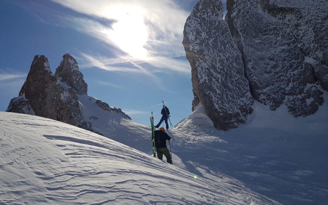 DAV Fortbildung Variantenabfahrten und steile Kare im Karwendel